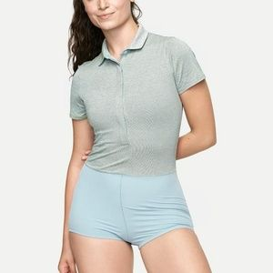 Outdoor Voices Players Polo Bodysuit Tennis Collec